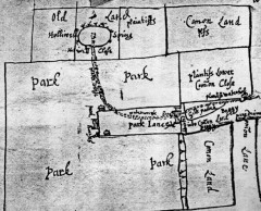 Old map showing Eccleshill's Holy Well