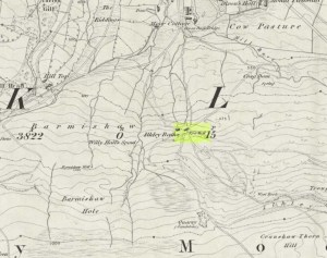 White Wells (as Spa Well) on 1851 map