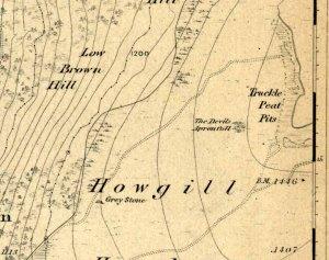 Devils Apronful on 1853 map