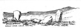 Druid's Altar, Bordley (drawing by Neil Wingate, 1976)